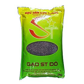 Gạo Lứt Đỏ Sóc Trăng 2kg  - Gạo ST Đỏ -  Tốt cho sức khỏe, tiểu đường, giảm cân và cao huyết áp