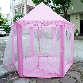 Lều công chúa hoàng tử hình ngôi nhà lục giác - màu hồng