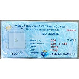 Kim cương nhân tạo gắn răng (Moissanite cao cấp)