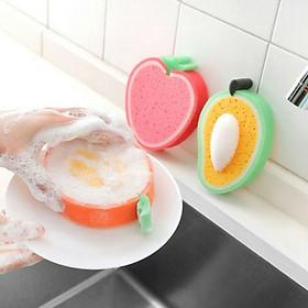 Mút rửa chén tạo bọt hình trái cây size lớn