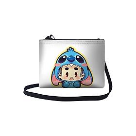 Túi Đeo Chéo Nữ In Hình Cậu Bé Mặc Đồ Stitch TUFU008