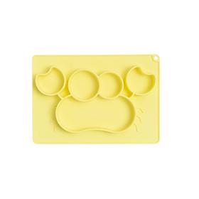 Khay ăn dặm hình con cua chia ngăn, đế hít chân không chống đổ, hỗ trợ bé phát triển kỹ năng ăn độc lập