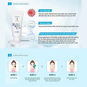 Sữa Rửa Mặt Tạo Bọt Chiết Xuất Đất Sét Trắng Senka Perfect White Clay 120g 14840 tặng Mặt nạ dưỡng da The Faceshop Real Nature (1 miếng)