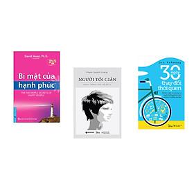 Combo 3 cuốn sách: Bí Mật Của Hạnh Phúc + Người tối giản + 30 ngày thay đổi thói quen