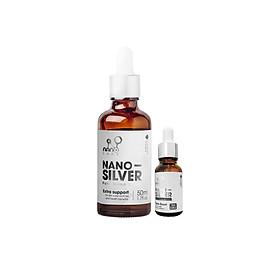 COMBO 2 Chai Trị Mụn Viêm Nano Bạc tinh khiết làm sạch da từ bên trong kháng viêm,giảm thâm, mờ sẹo (50ML+15ML)