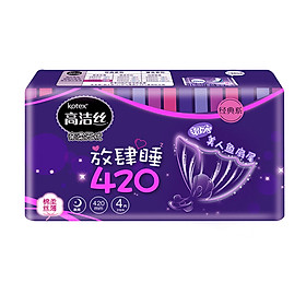 Gao Jie Si Kotex kiss cotton night with sanitary napkins wanton sleep 420mm4 piece of classic cotton soft silk thin series
