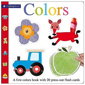 Alphaprints Colors Flash Card Book: A First Colors Book With 20 Press-Out Flash Cards