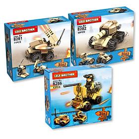 Combo 3 Bộ Lắp Ráp Thiết Bị Quân Sự Xe Tăng 8281-2-6