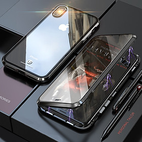 Ốp Từ Tính Trong Suốt Bảo Vệ Mặt Trước + Sau Cho iPhone X/XS/MAX/XR