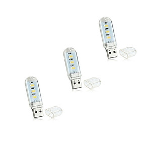 Bộ 3 Thanh Đèn LED Mini Siêu Sáng Cắm Cổng USB