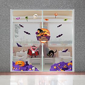 Decal trang trí Halloween 2020 combo lễ hội ma quái