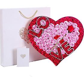 I'M HUA HUA birthday gift girl wedding anniversary Valentine's Day gift to send girlfriend to wife creative gift confession 99 rose gift box