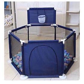 Quây cũi lục giác có kèm theo bóng rổ, tặng kèm 10 bóng