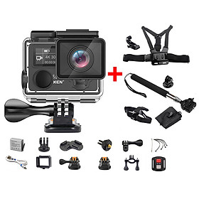 Camera hành trình Eken H5S Plus 4K WIFI Tặng Combo Phụ kiện camera - Hàng Chính Hãng