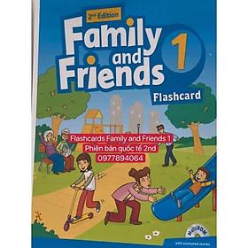 Flashcards Family and Friends 1- 2nd - thẻ 2 mặt ép plastics bền đẹp