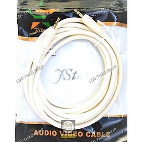 Cáp loa 2 đầu jack 3.5 dài 1.5M 3M 5M 10M cao cấp (dây loa 2 đầu 3 li)