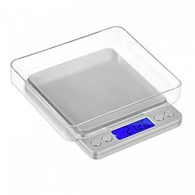 Cân tiểu ly điện tử 1000g - 0.01g + đĩa cân đi kèm kim loại không gỉ