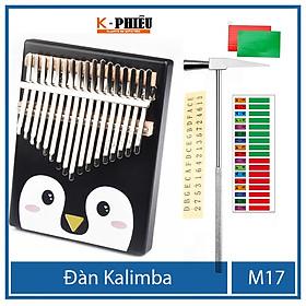 Đàn kalimba 17 phím chính hãng âm thanh tựa đàn piano đàn hạc không tịt nốt sử dụng bằng ngón tay cái tặng Hướng dẫn sử dụng TONIC KALIMBA -M17