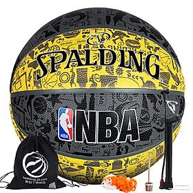 SPALDING NBA Graffiti Series Outdoor Rubber Basketball - Yellow 83-307Y