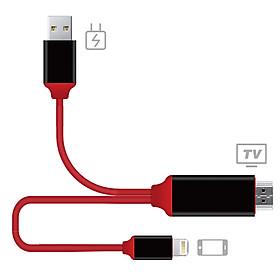 Cáp Sạc Và Chuyển Đổi Dữ Liệu Dài 1m Snowkids Từ Cổng Lightning Sang HDMI - Đỏ Đen
