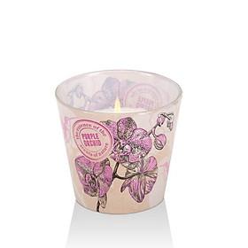 Ly nến thơm Bartek Candles BAT1416 Orchid Eco 115g (Hương hoa địa lan, Mẫu ngẫu nhiên)