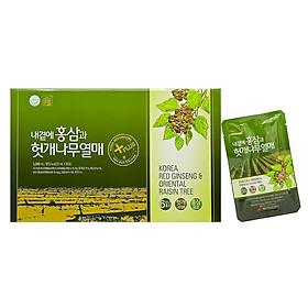 Nước Hồng Sâm bổ gan DAEDONG Hàn Quốc hộp 30 gói * 50ml (Korea Red Ginseng & Oriental Raisin Tree)