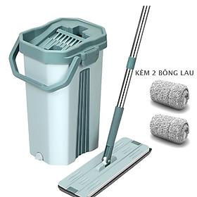 BỘ LAU NHÀ THÔNG MINH TỰ VẮT BLNREVIP hai ngăn vắt và giặt, xả nước tiện lợi ở đáy thùng, bông lau tĩnh điện MICRO FIBER 38cm có hai đầu móc chắc chắn, nắp thùng dễ tháo rời vệ sinh