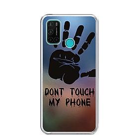 Ốp lưng dẻo cho điện thoại VSMART JOY 4 - 0292 DONTTOUCHMYPHONE - Hàng Chính Hãng