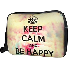 Túi Đeo Chéo Hộp Unisex Keep Calm & Be Happy Live Free -TCTE122