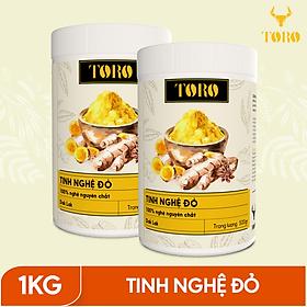 Bộ 2 Hũ Tinh bột nghệ đỏ TORO Curcumin -100% tinh nghệ đỏ từ Dak Lak - 500g/ hũ