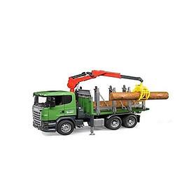 Đồ chơi dạng mô hình BRUDER theo tỷ lệ thu nhỏ 1:16 xe chở gỗ Scani BRU03524