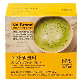 Trà Sữa Trà Xanh No Brand (10 Gói)