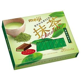 Meiji Hộp 26 miếng socola nhân matcha 120g