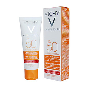 Kem Chống Nắng Bảo Vệ Và Giúp Giảm Các Dấu Hiệu Lão Hóa Vichy Capital Ideal Soleil Anti-Ageing SPF50+ UVB+UVA 50ML
