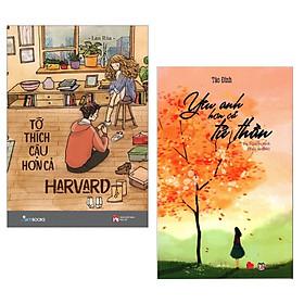 Combo 2 Cuốn Tiểu Thuyết Lãng Mạn: Tớ Thích Cậu Hơn Cả Harvard + Yêu Anh Hơn Cả Tử Thần / Những Cuốn Tiểu Thuyết Lãng Mạn Ngọt Ngào Nhất - Tặng Kèm Bookmark Happy Life