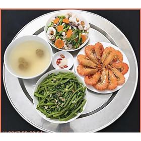 Mâm nhôm, mâm ăn cơm hàng dày loại I (dùng ăn cơm gia đình, đặt đồ lễ thắp hương)