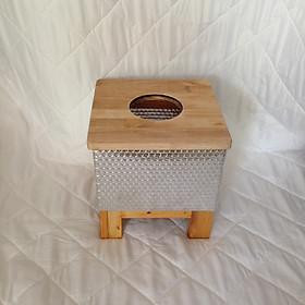Ghế xông hơi vùng kín bằng gỗ có lớp bọc cách nhiệt