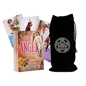 Combo Bộ Bài Bói Guardian Angel Tarot Cards: A 78-Card Deck Cao Cấp và Túi Nhung Đựng Tarot