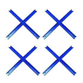 16 X Aluminium Alloy Cross T-track Connector T-slot Miter Woodworking Accessory