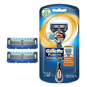 Combo Dao Cạo Râu Gillette Fusion 5 Proglide Flexball (1 Cái + 2 Lưỡi)