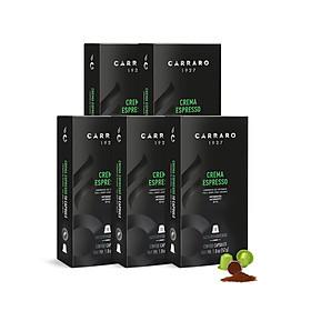 [Bao bì mới] COMBO 5 hộp Cà phê viên nén Crema Espresso Capsule