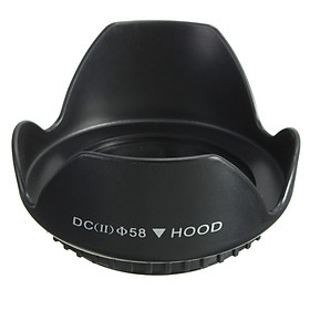 58mm Upgraded Lens Hood For Canon 700D 100D 650D 600D 550D 1200D 1100D 18-55mm
