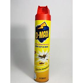 Bình xịt côn trùng Hương cam chanh 600ml công nghệ mới 2 vòi .D-MAX không mùi dễ chịu đánh bay các loại côn trùng