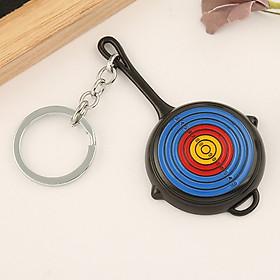 Móc khóa mô hình trong game PUBG - chảo target đen