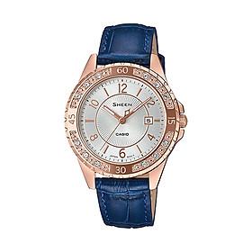 Đồng hồ nữ dây da Casio Sheen chính hãng SHE-4532PGL-7AUDF