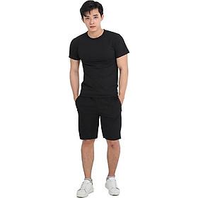 Bộ quần áo shorts thể thao nam Taki Taki dạng sọt sport đùi chất thun mềm mịn cao cấp phù hợp tập gym hay mặc nhà có màu trắng, đen và xám (cổ tròn)