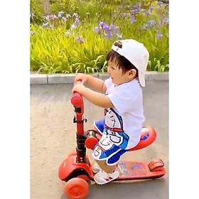 Xe Trượt Scooter 3in1 cho bé trai, bé gái có ghế ngồi, 3 bánh xe