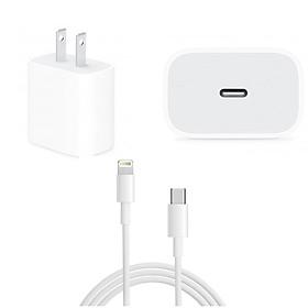 Bộ sạc dành cho Iphone (Bao gồm: Cáp sạc USB Type C-Type C + Củ sạc 18W) - Chuẩn USB Type C