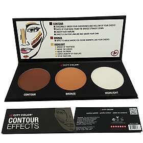 PHẤN TẠO KHỐI 3 Ô CITY COLOR CONTOUR EFFECTS PALETTE