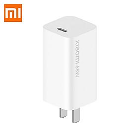 Bộ sạc Xiaomi Mi GaN 65W AD65G - cổng USB Type-C chođiện thoại, sạc cả máy tính xách tay Mi10 Pro, Macbook Air, MateBook, iPhone 11 Pro